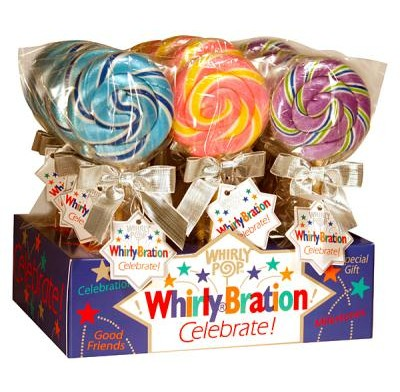 WHIRLYBRATION<BR>FUN LOLLIPOPS<BR>1.75oz. 18ct.