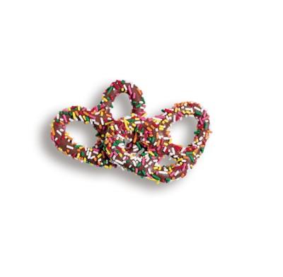 Pretzel Milk Chocolate with Jimmies (Sprinkles)