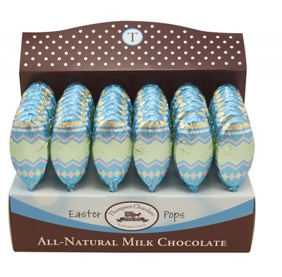 Thompson Milk Chocolate Easter Egg Pops 1/2oz. -  48ct.