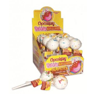 CHOCOLATEY<BR>BUBBLE BREAKER<BR>on a STICK 12ct.