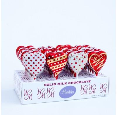Madelaine Valentine Heart Pops 24ct.