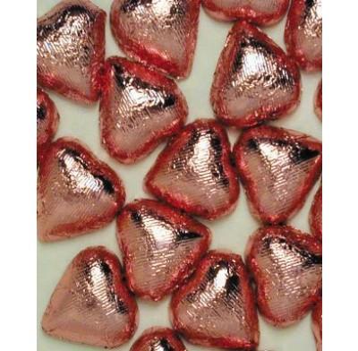 THOMPSON FUCHSIA FOIL<BR>DARK CHOCOLATE HEARTS