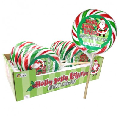 Holly Jolly Christmas Lollipops 12ct.