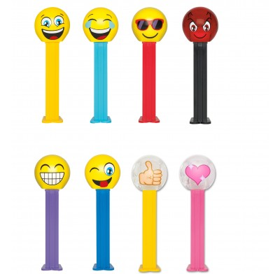 Pez Emoji's 12ct. Blister Card Display