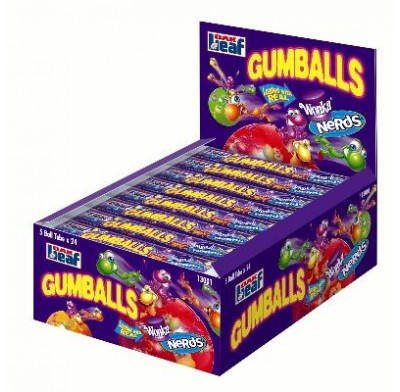 NERDS GUMBALLS 5 BALL TUBE 1.63oz.