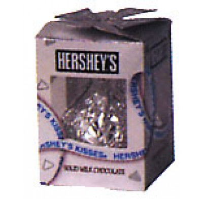 HERSHEY 7oz GIANT KISS<br />SILVER FOIL