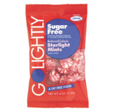 GO LIGHTLY SUGARFREE BAGS 2.75oz. STARLIGHT MINTS