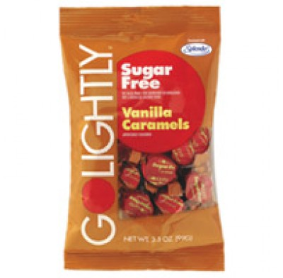 GO LIGHTLY SUGARFREE BAGS 2.75oz. CARAMELS