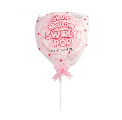 Giant Mallow Swirly Pop Pink 2.5oz 12ct