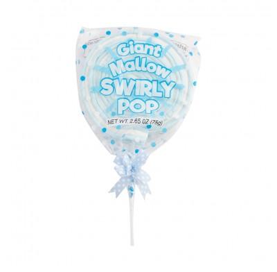Giant Mallow Swirly Pop Blue 2.5oz 12ct