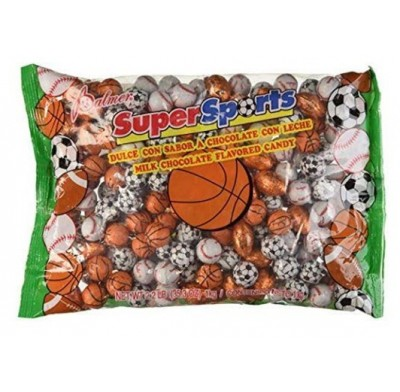 Chocolate Foiled Assorted Sports Balls 2.2lbs