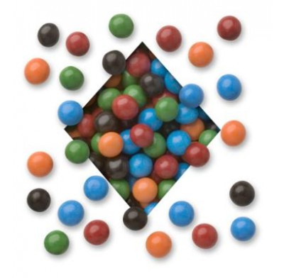 CANDY COATED<BR>MILK CHOCOLATE<BR>PRETZEL NUGGETS