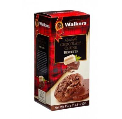WALKERS QUAD<BR>CHOCOLATE COOKIES 5.3oz.