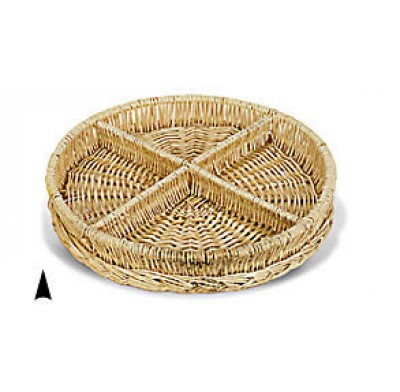 Wicker Tray 4 Section