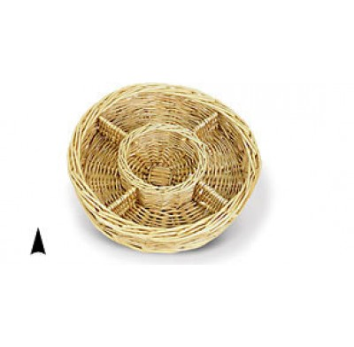 Wicker Tray 10 Inch 5 Section