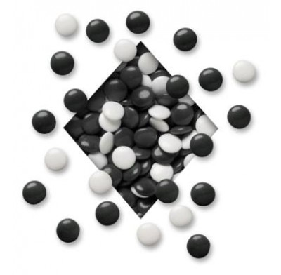 COLORWHEEL MINT LENTILS<BR>BLACK & WHITE