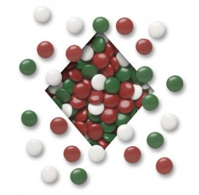 CHRISTMAS MINT LENTILS<BR>RED,GREEN & WHITE