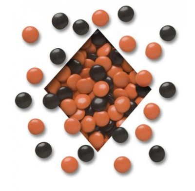 HALLOWEEN MINT LENTILS<BR>ORANGE & BLACK