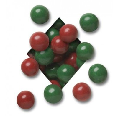 MALTED MILK BALLS<BR>DARK CHOCOLATE<BR>CHRISTMAS RED & GREEN