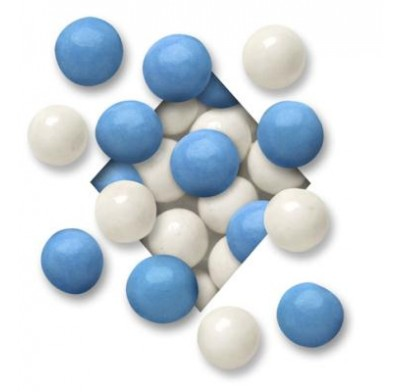 MALTED MILK BALLS<BR>DARK CHOCOLATE<BR>HANUKKAH BLUE & WHITE