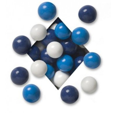 MALTED MILK BALLS<BR>DARK CHOCOLATE<BR>HANUKKAH NAVY BLUE, MID BLUE & WHITE