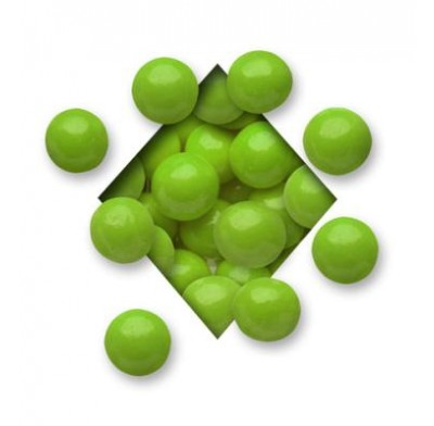 MALTED MILK BALLS<BR>MILK CHOCOLATE<BR>LIGHT GREEN