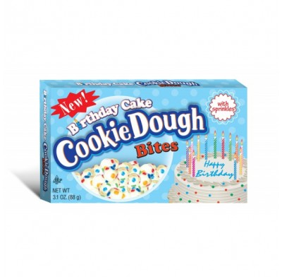 Birthday Cake Cookie Dough Bites 3.1oz. Movie Theater Box