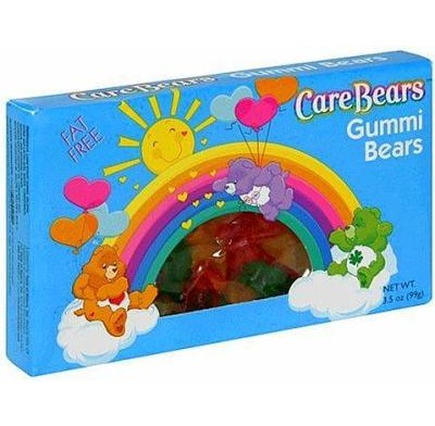 CARE BEARS GUMMI BEARS<BR>MOVIE THEATER BOX 3.5oz.