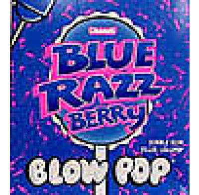 CHARMS BLOW POP LOLLIPOP BLUE RAZZBERRY 48 COUNT