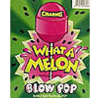 CHARMS BLOW POP LOLLIPOP<BR> WHAT A MELON 48 COUNT