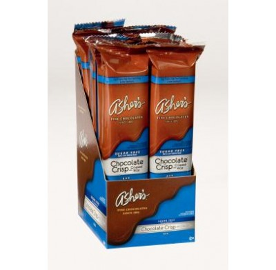 ASHER SUGARFREE CHOCOLATE CRISP BAR 12ct.