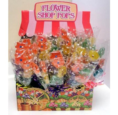 FLOWER SHOP POP<BR>LOLLIPOPS 24ct.