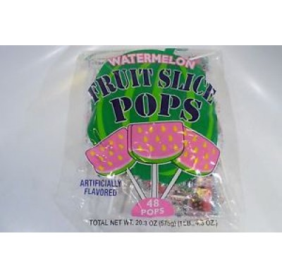 Fruit Slice Pop Watermelon 48ct.