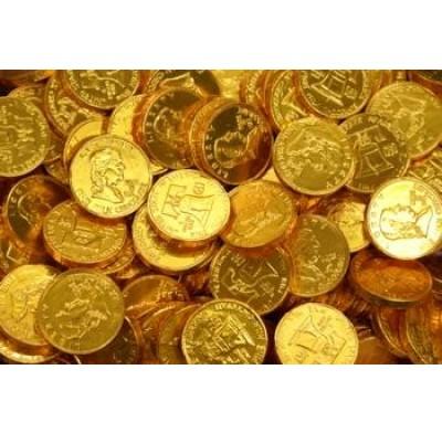 GOLD COINS<BR>QUARTER SIZE
