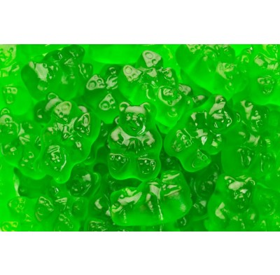 GUMMY BEARS<BR>GRANNY SMITH APPLE