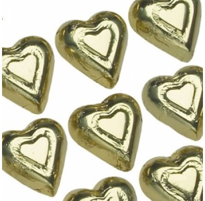 Gold Hearts Foiled