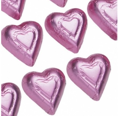 Pink Hearts Foiled