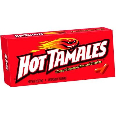 HOT TAMALES 5oz. MOVIE THEATER BOX