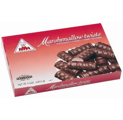 JOYVA CHERRY-MARSHMALLOW TWISTS<br />9oz. BOX