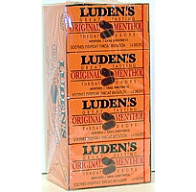 LUDENS COUGH DROPS MENTHOL 20ct