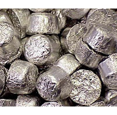 CROQUETTES DARK CHOCOLATE in SILVER FOIL