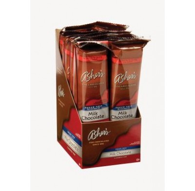 ASHER SUGARFREE MILK CHOCOLATE FLAVORED BAR 12ct.