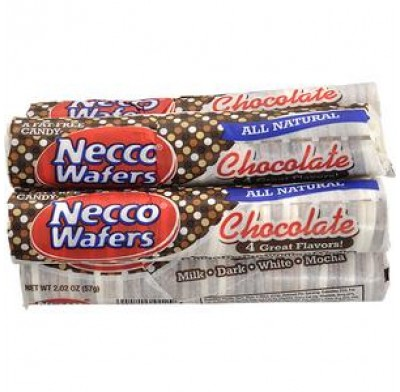 NECCO WAFERS CHOCOLATE 24ct.