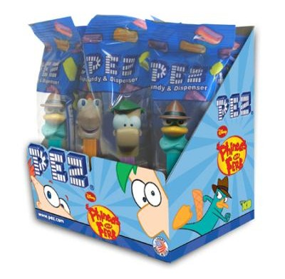 PEZ PHINEAS & FERB 12ct.