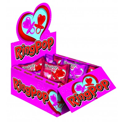 Be Mine Heart-Shaped Ring Pops 36ct.