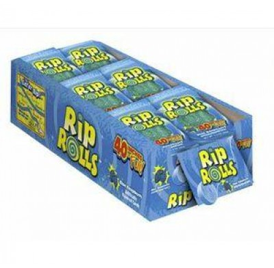 SOUR RIP ROLLS BLUE RASPBERRY 24CT