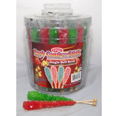 "Rock Candy on a Stick 36ct. Christmas ""Jingle Bell Rock"""