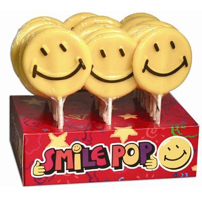 SMILE FACE WHIRLY POP<BR>LOLLIPOP 1.5oz. 24ct.