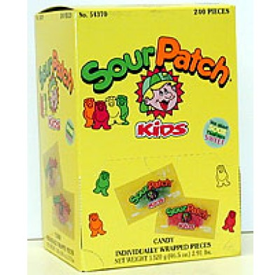 SOUR PATCH KIDS 240ct<BR>INDIVIDUALLY WRAPPED