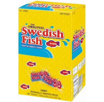 SWEDISH FISH RED 240ct<BR>INDIVIDUALLY WRAPPED